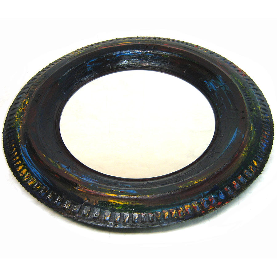 Tilt Originals - painted tyre wall mirror
