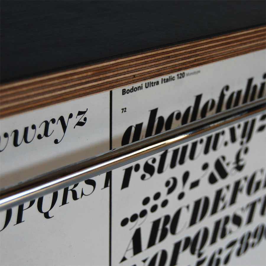 Tilt Originals - Type sample sideboard bench