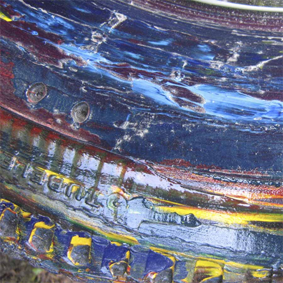 Tilt Originals - painted tyre wall mirror