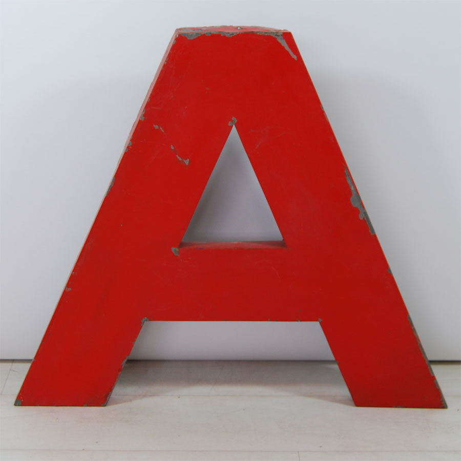 Tilt Originals - Red metal letters