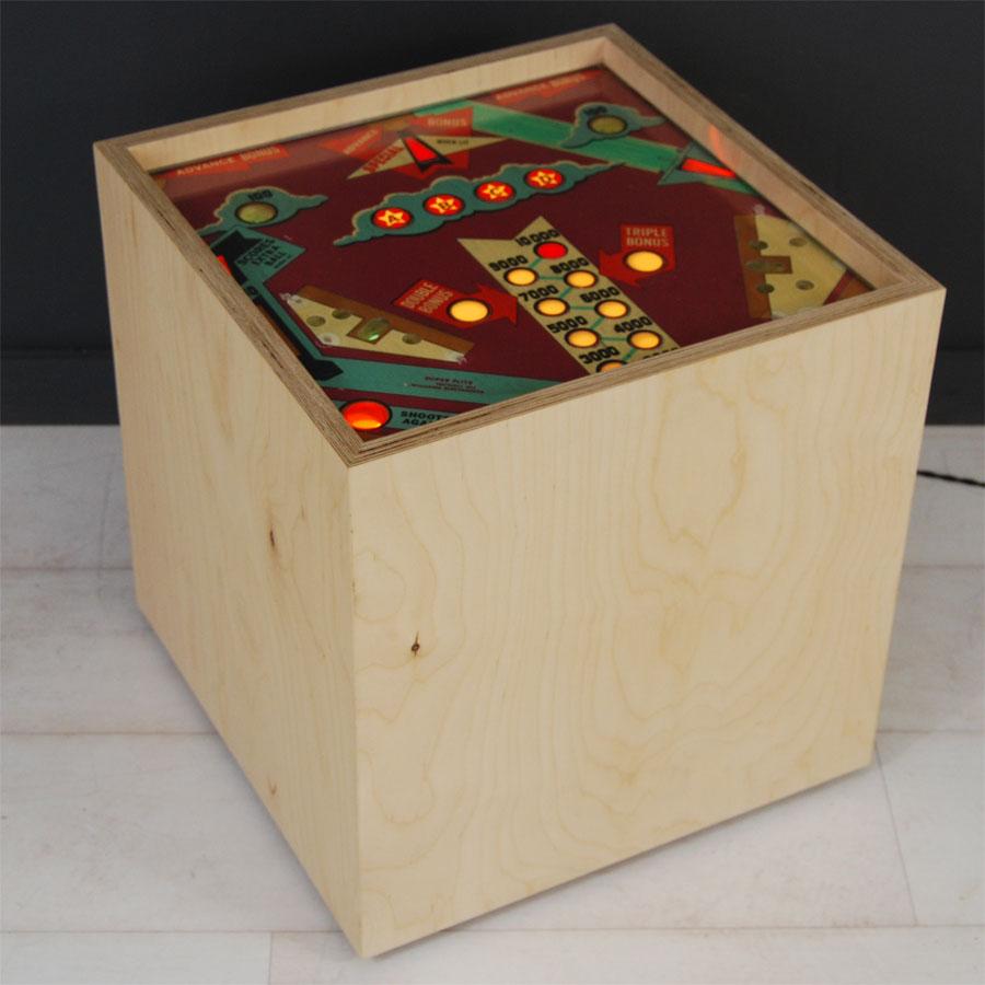 Tilt Originals - Pinball cube side table