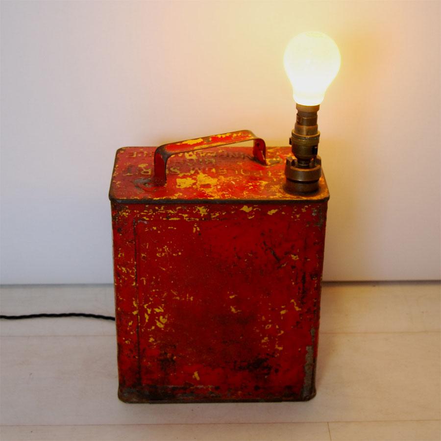 Tilt Originals - Red oil can light