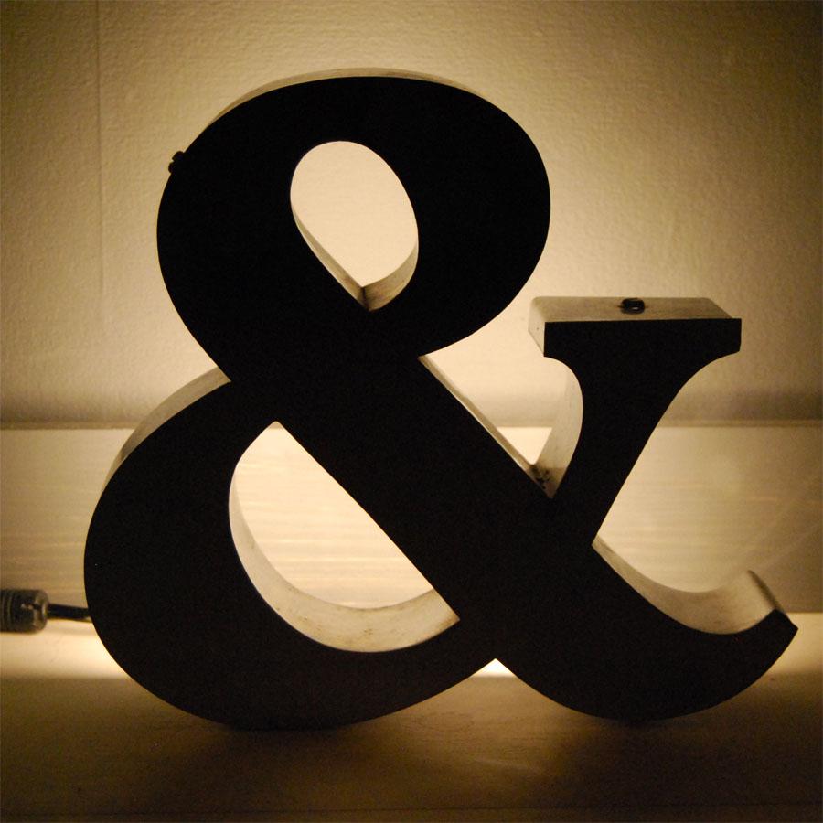 Tilt Originals - Crome ampersand light