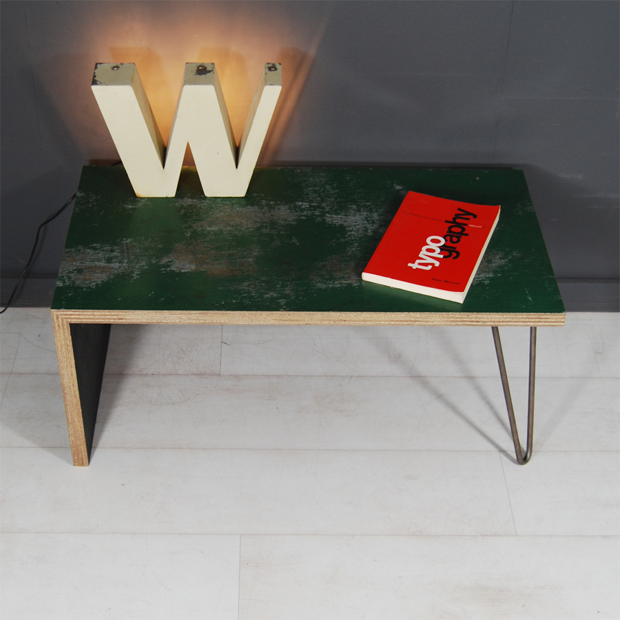 Tilt Originals - Battered-green-coffee-table