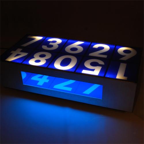 Tilt Originals - Illuminated number table
