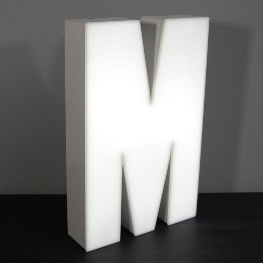 Tilt Originals - M letter light