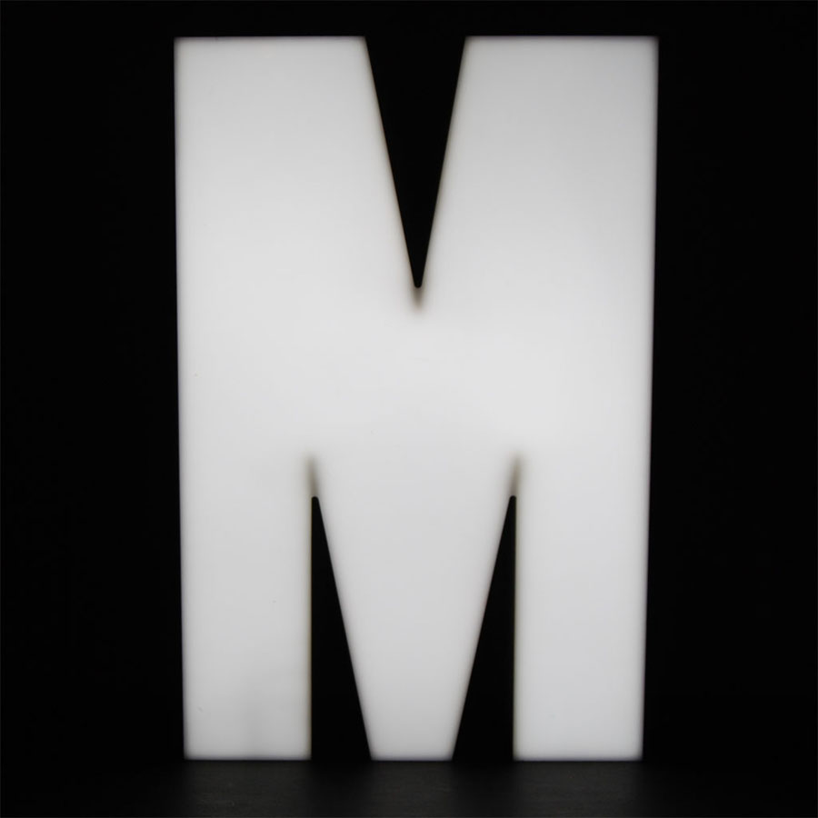 Tilt Originals - M letter light
