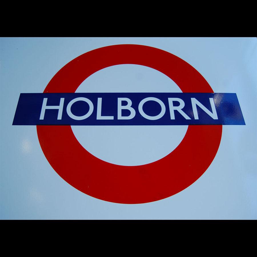 Tilt Originals - Holborn tube sign table