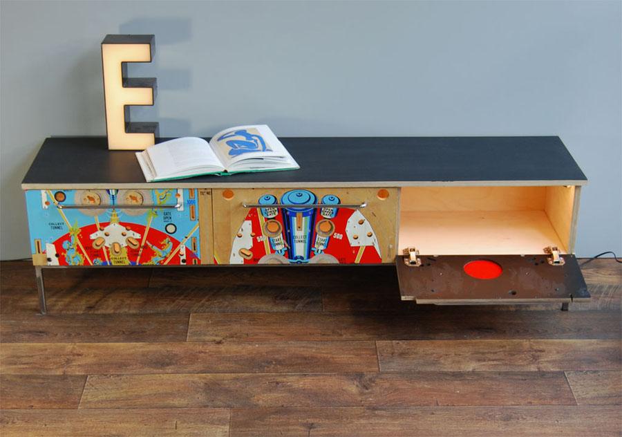 Tilt Originals - 1970s Space Time pinball sideboard