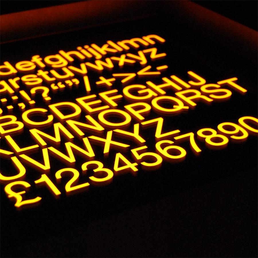 Tilt Originals - Helvetica light cube sidetable