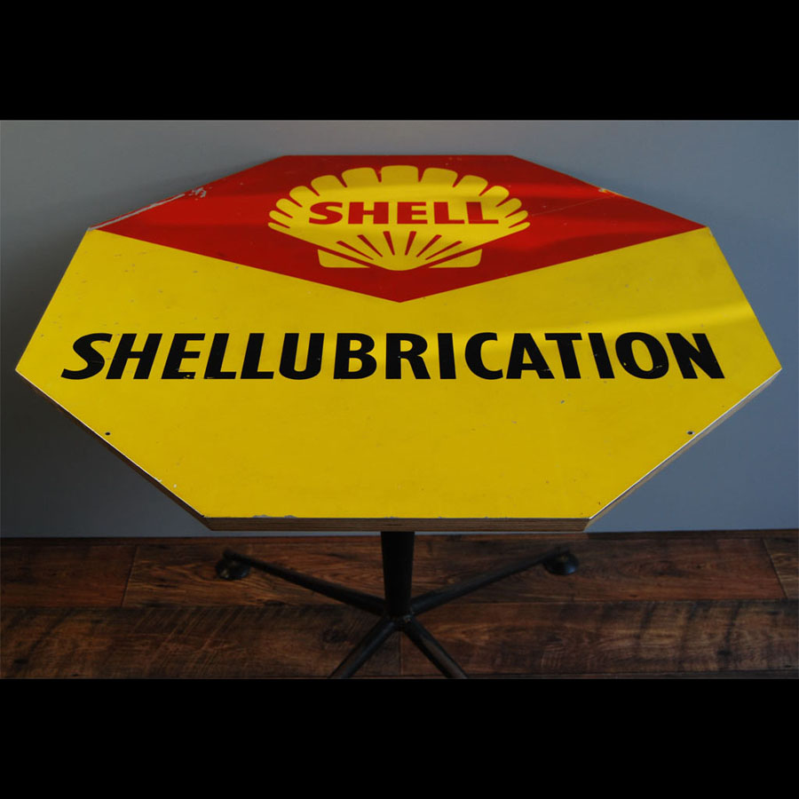 Tilt Originals - 1960s Shell sign table