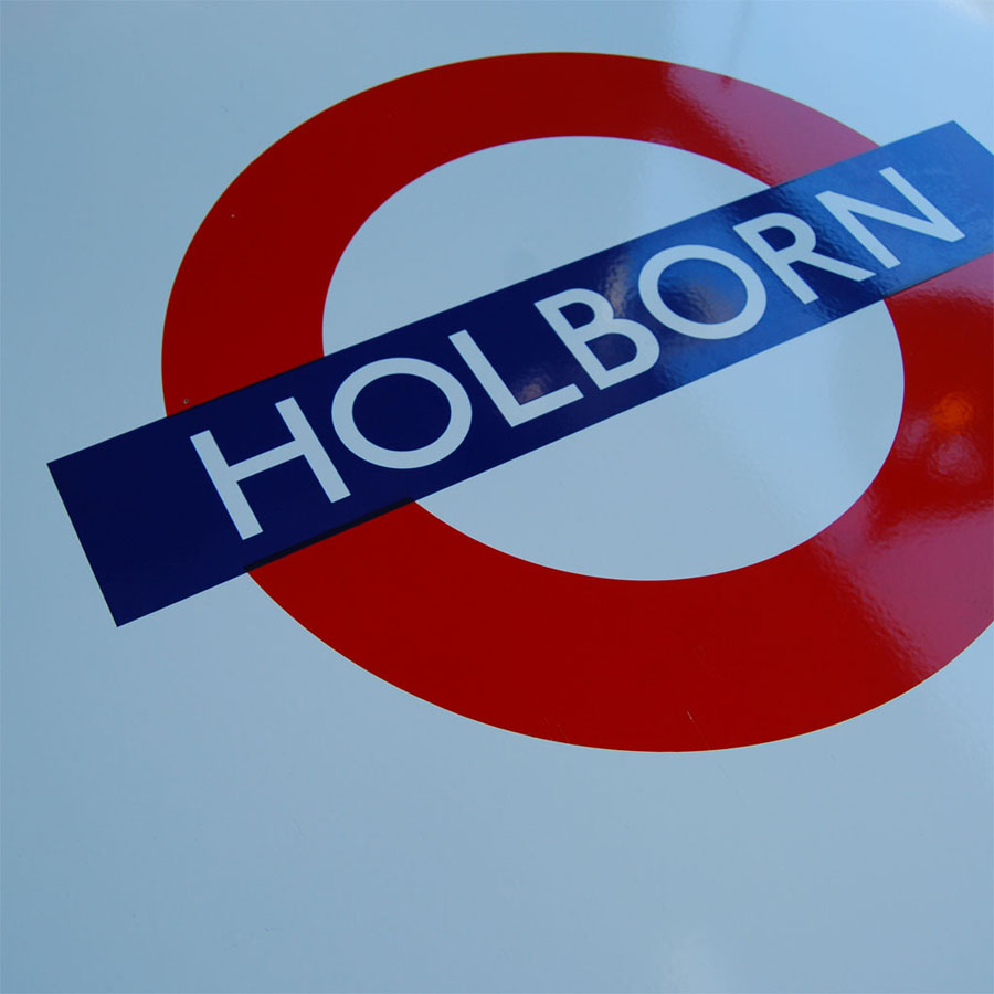 Tilt Originals - Holborn tube sign table